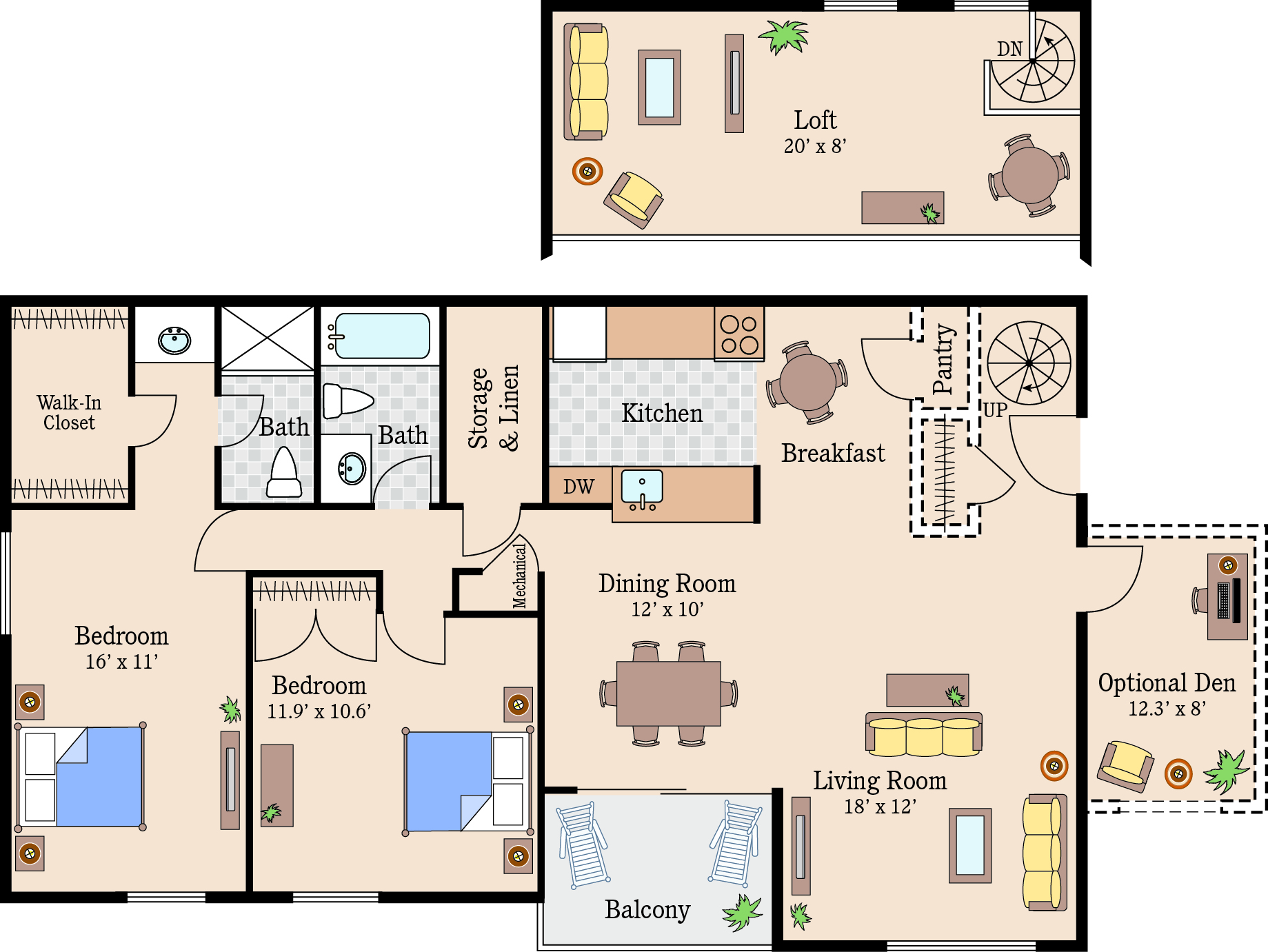 Click On Any Of The Floor Plans Below For A Full Sized Image (all  Dimensions Are Approximate).